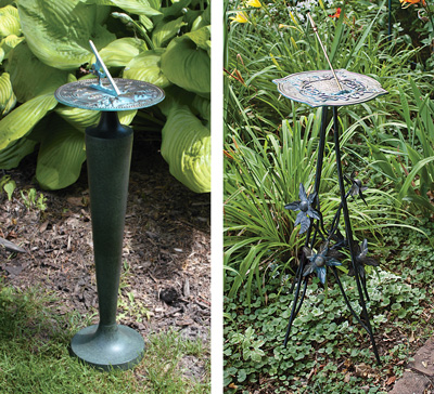 ... Cast Iron Pedestals, While Others Are Designed To Be Placed On The  Ground Or A Stone Column. They Are Not Designed For Our Wrought Iron/steel  Stands.