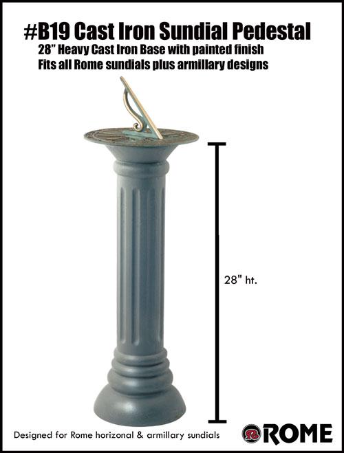B19 Cast Iron Pedestal Base